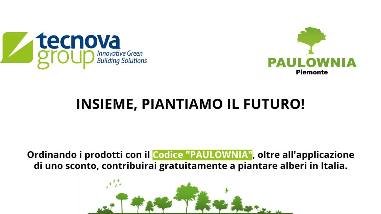Anche Tecnova Group con Paulownia Piemonte